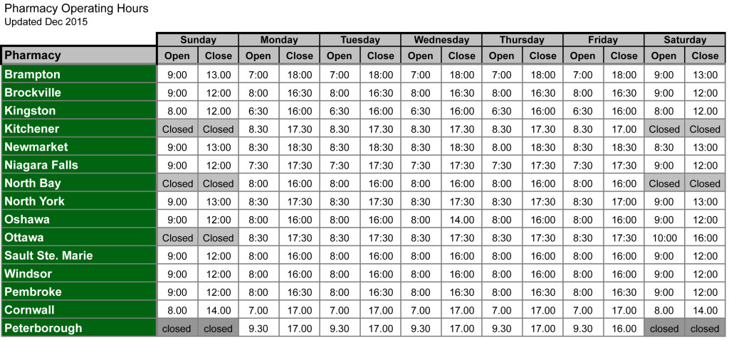 CATP - Operating Hours - updated Dec 2105.xls